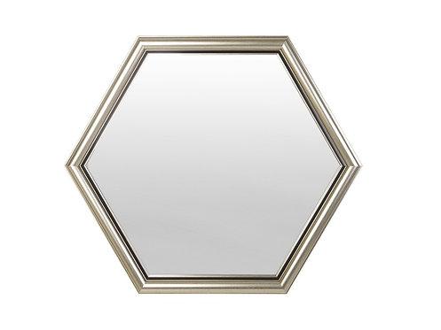 Hexagon Framed Mirror