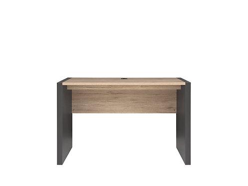 Contemporary Dark grey and light oak office study desk