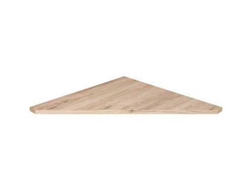 Corner connector for L shape desk light oak