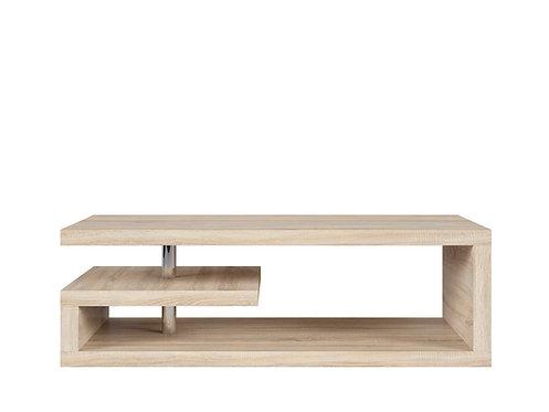 Light wood modern G shaper rectangular coffee table