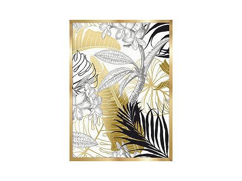 Framed Picture Golden Leaves 2