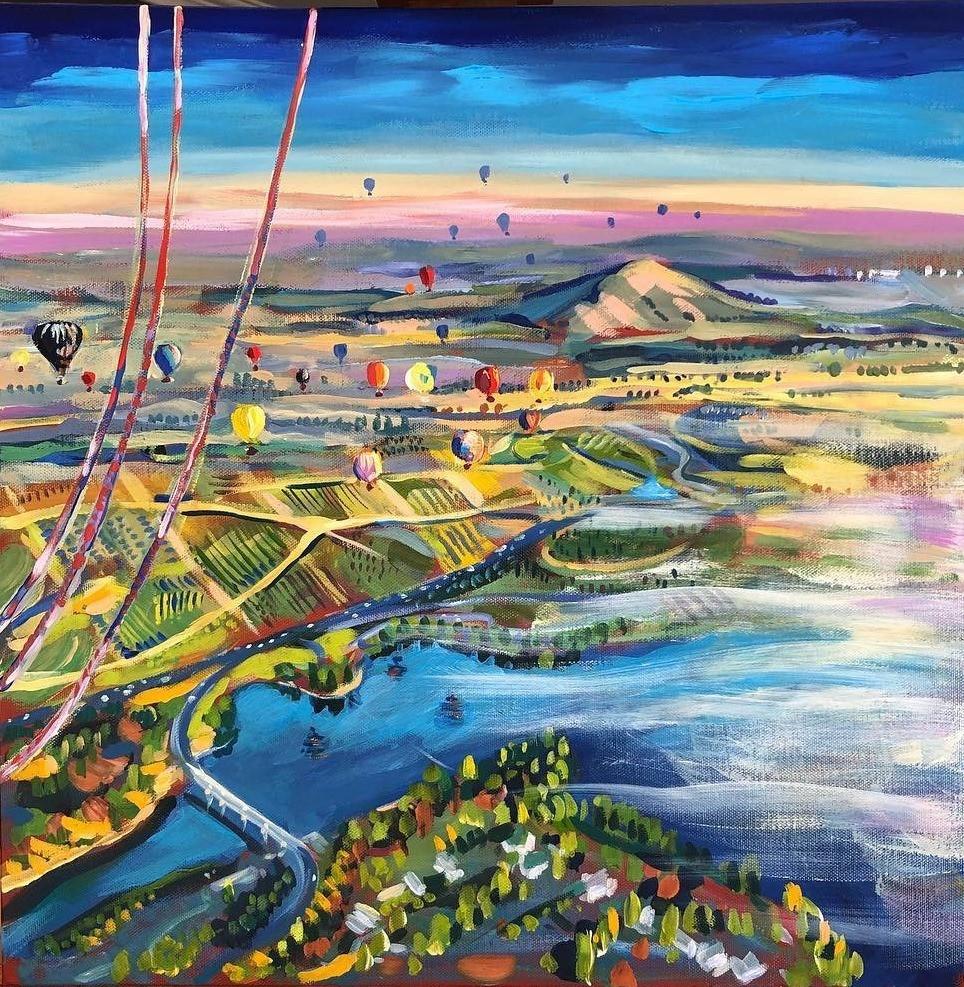 Flying over Canberra
