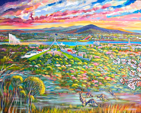 redhill view. Commissioned painting.