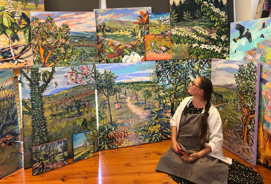 Valentyna Crane at the studio