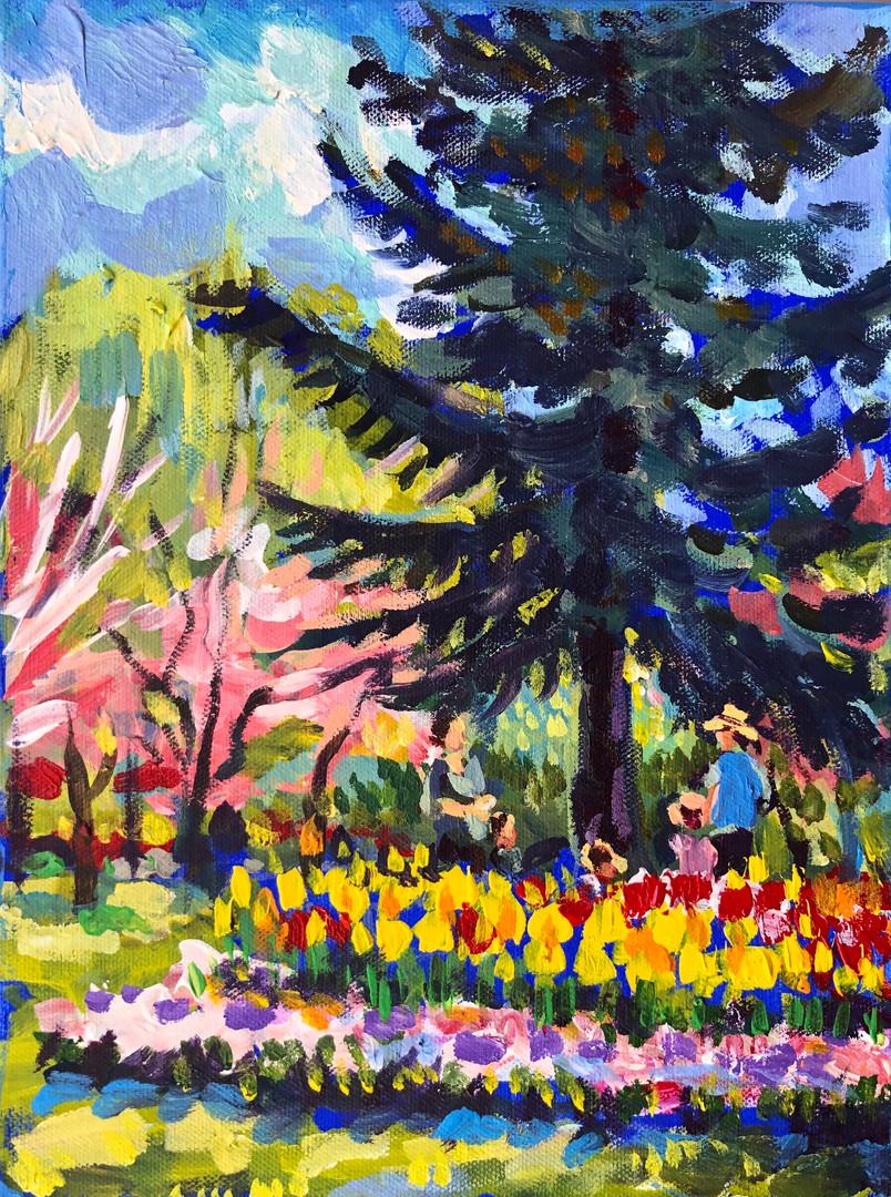 pleinair study from the gardens 2019