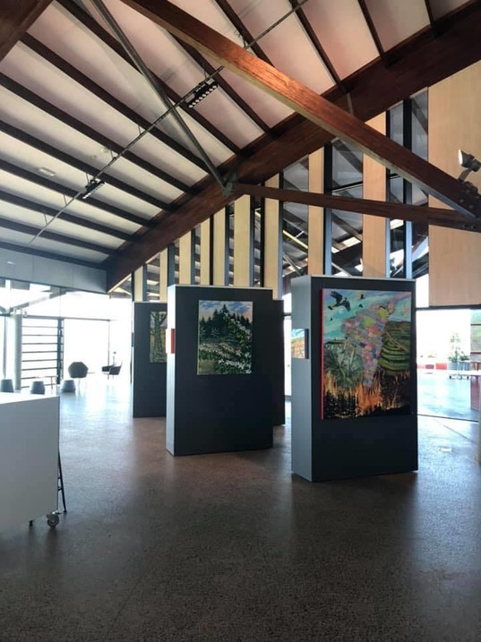 Exhibition at the Village Centre at the National Arboretum Canberra. Feb-March2020