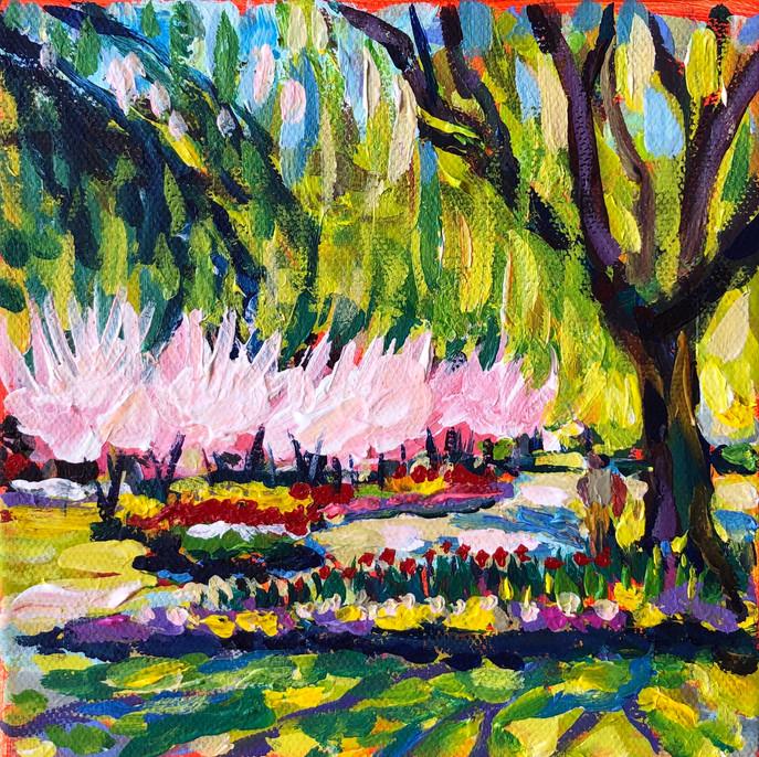 pleinair study from the gardens