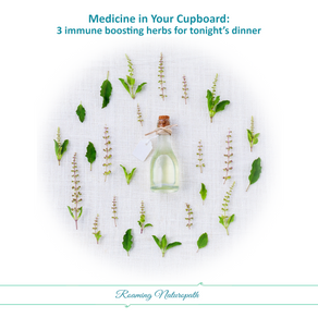 Medicine in your Cupboard: 3 immune boosting herbs to add to your dinner