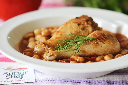Цыпленок Перуджи с белой фасолью
