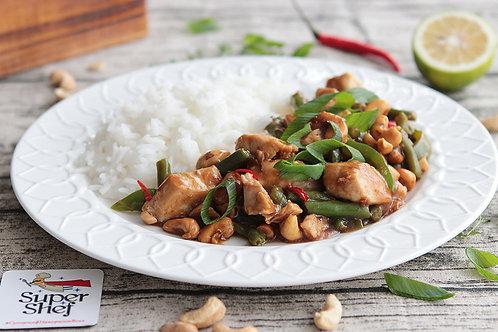 Курочка Гунбао с овощами и кешью /рис