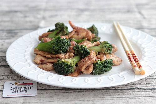 Свинина с брокколи по-китайски