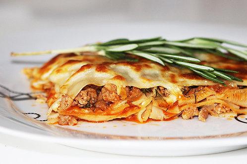 Лазанья с мясом с соусом Бешамель