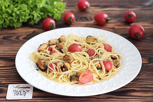 Спагетти кон коцце с мидиями