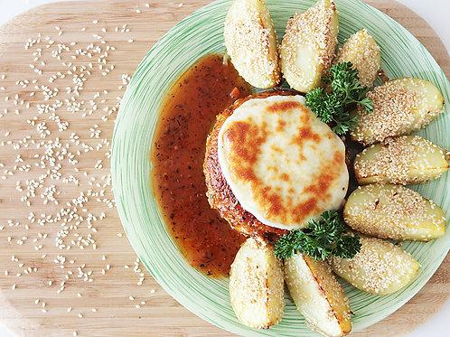 Котлеты по-итальянски с картофелем в кунжуте
