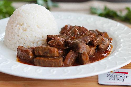 Печень говяжья по-восточному с рисом