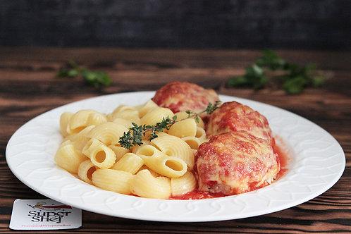Котлеты куриные запеченные под томатным соусом