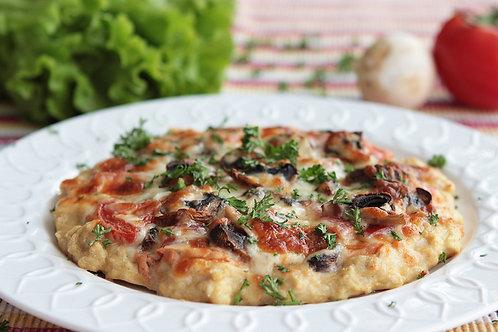 ППравильная пицца из курицы с шампиньонами