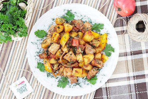 Оджахури - Свинина по-грузински с картофелем