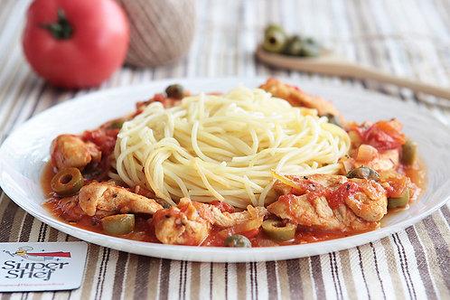 Курица Алла Путанеска со спагетти