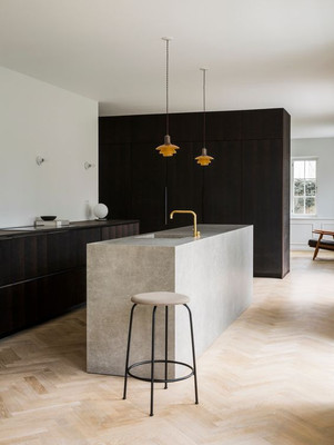 8 ways concrete can be used in your kitchen.