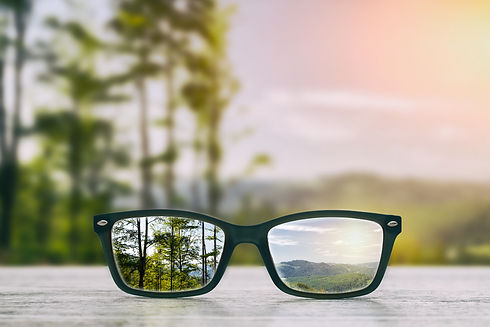 glasses focus background wooden - stock