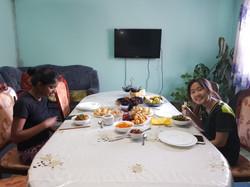 Local family in Kyrgyzstan