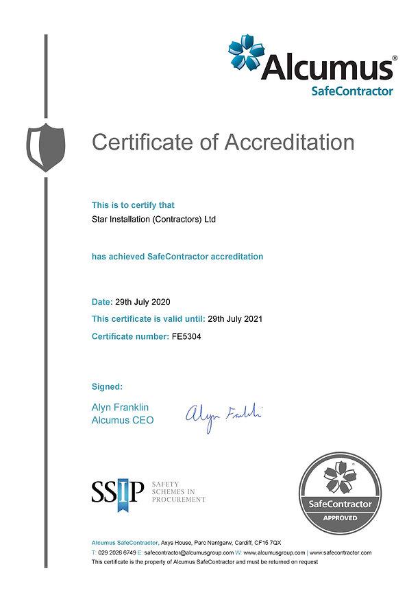 33 SSIP - Alcumus Safe Contractor Certif