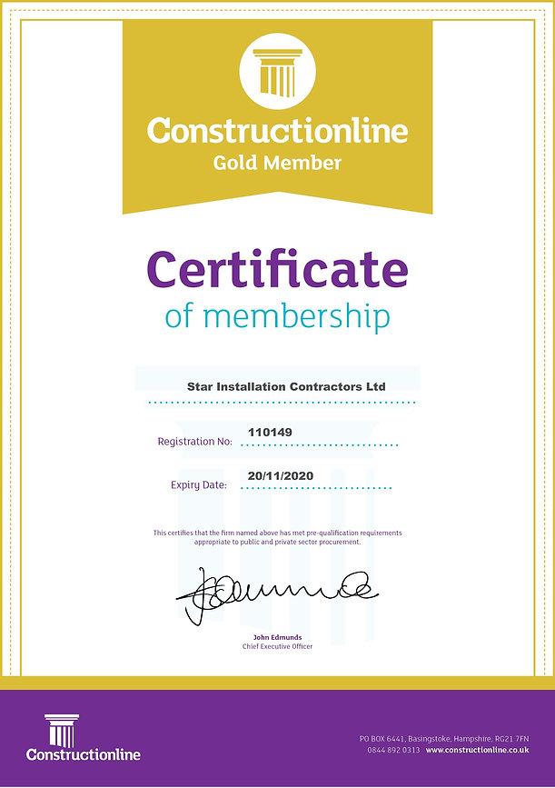 32 Constructionline 110149 Gold Certicat