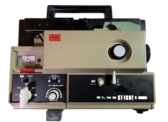 ELMO ST-180E M two-track super-8 sound projector