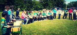 Drumming workshops for school green flag celebration sambastef