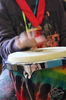 SambaStef bongos girls guide drumming workshop for all activity for group