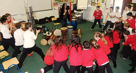 SambaStef Drumming workshop for schools, bodypercussion for all, activity for kids
