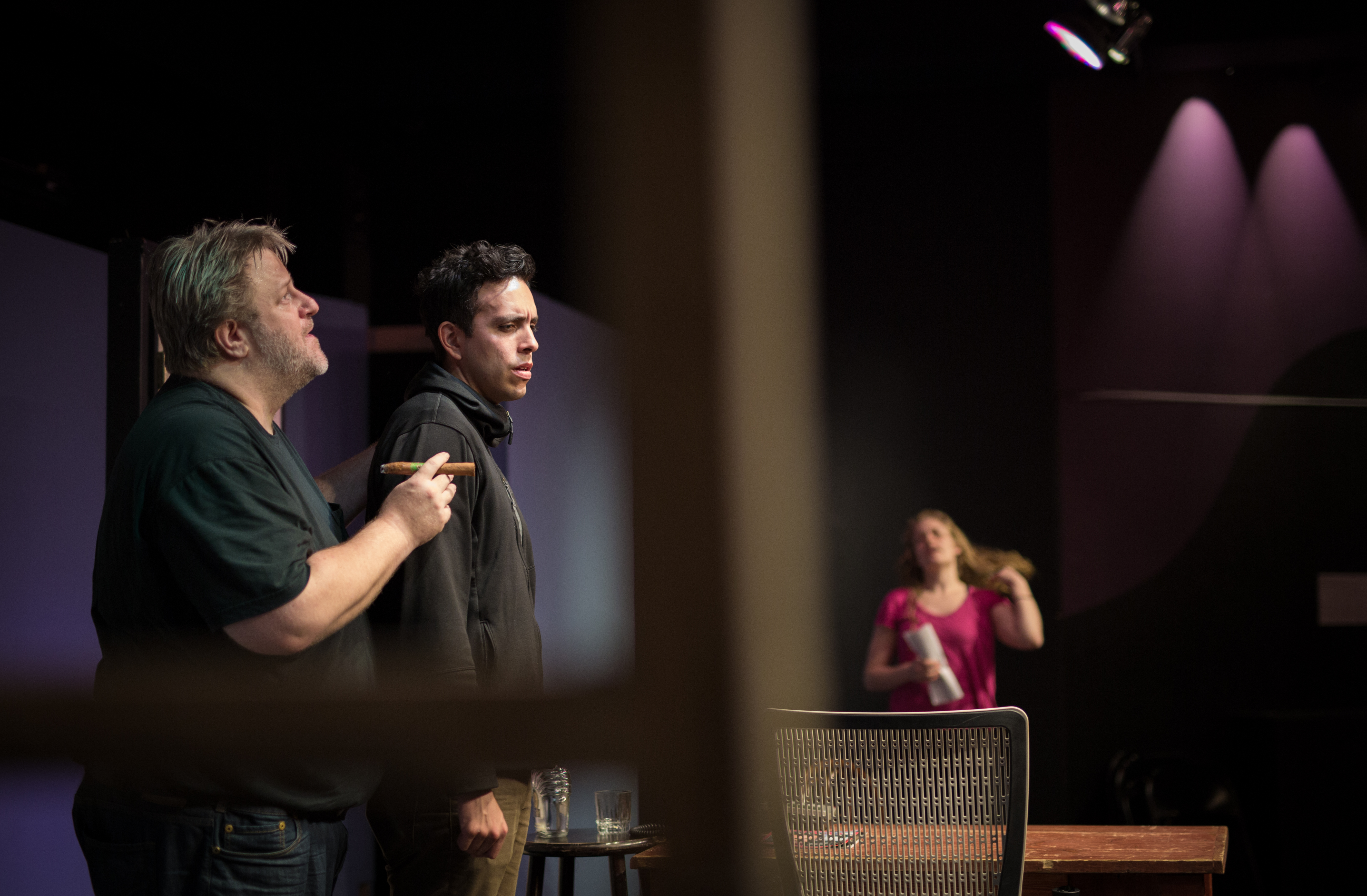 """""""Four Dogs and a Bone"""" rehearsal"""