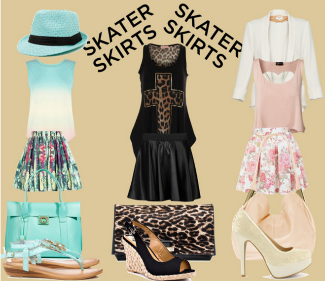 The Skater Skirt Trio - Polyvore.png