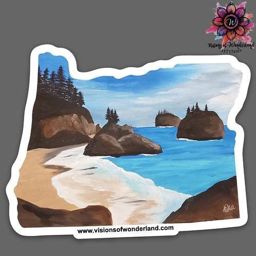 Secret Beach sticker