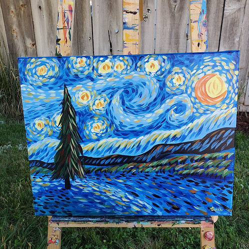 Starry Winter Night 1