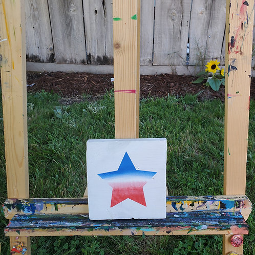 Patriot Star on White