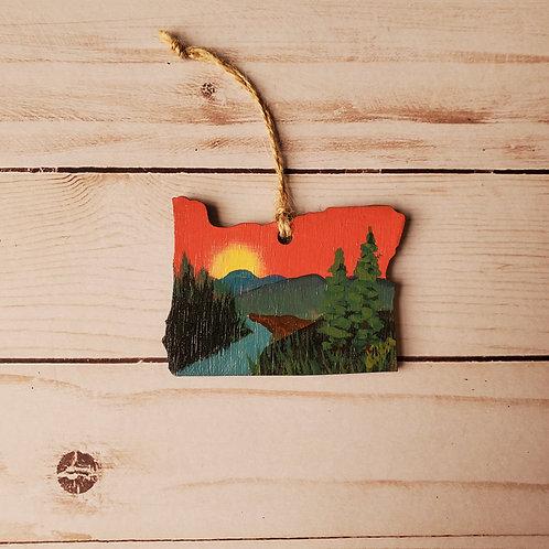 Rogue River Oregon Ornament