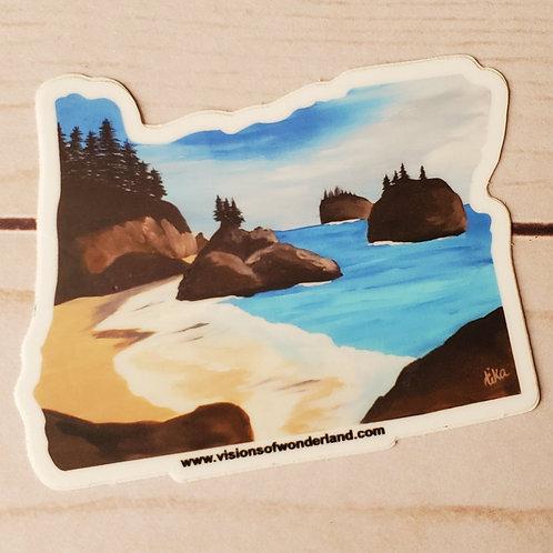 Secret Beach Oregon sticker