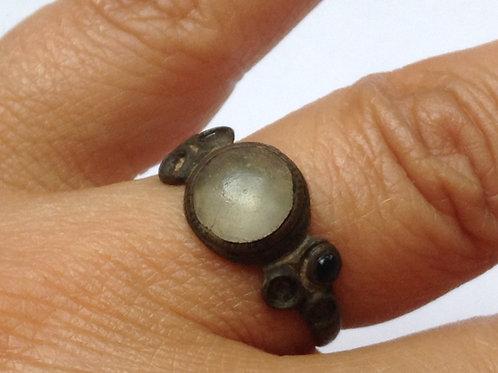 Medieval VIKING ENGAGEMENT ring. LOVE AMULET
