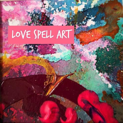 LOVE SPELL painting~art~ ANCIENT love SPELL CAST ART