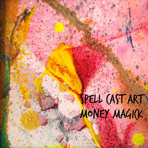 Wealth & money ABUNDANCE spell ~ painting~art~ ALTAR ART~ abundance SPELL