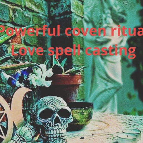 COVEN LOVE REUNITED SPELL CASTING & FULL kit ~ LOVE POTION ~aura spray