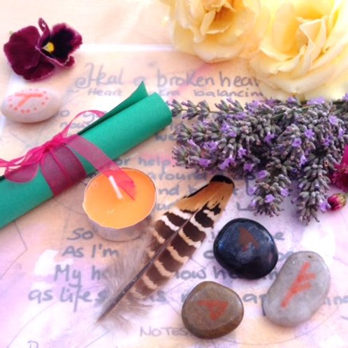 Heal my broken heart SPELL KIT~  wicca magick