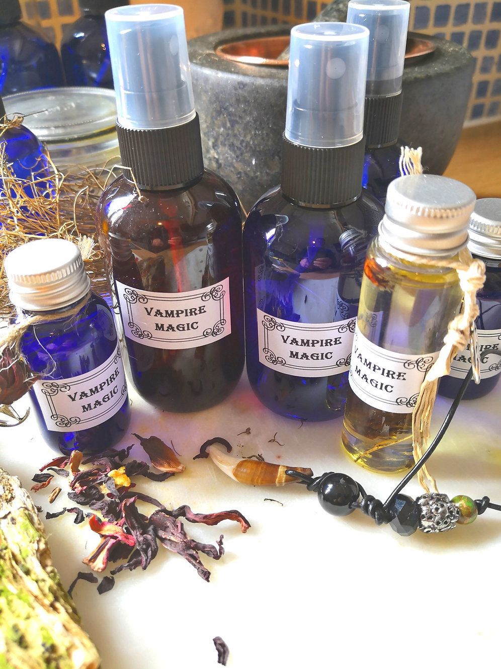 VAMPIRE PROTECTION spray with sacred HERBS REMOVE BAD VOODOO HEXES |  trulymagick