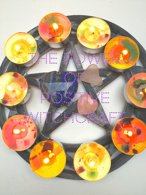 12 super powerful spell candles FULL MOON ritual MONEy