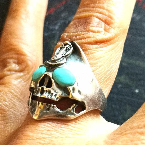 VERY RARE RING Haunted Skull ring of JINN magick~djinn SNAKE