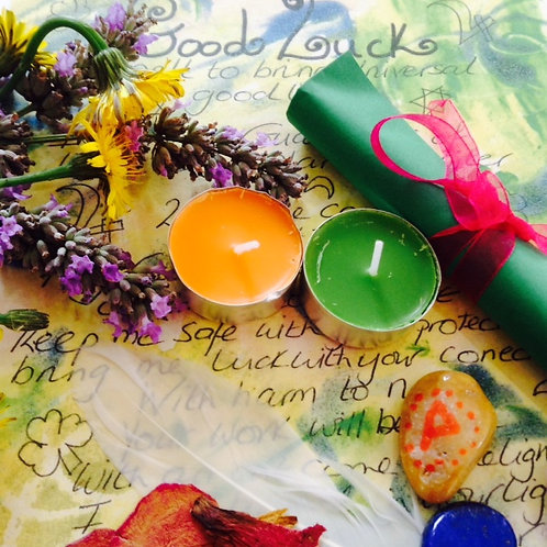 Luck SPELL KIT~Wicca White Witchcraft spell kit