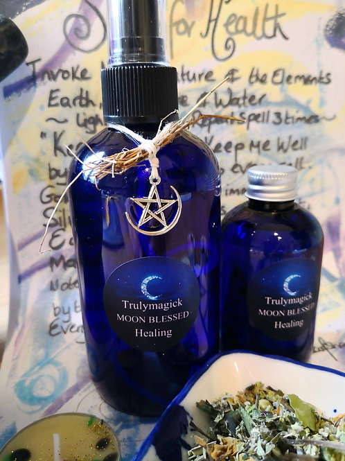 The Ultimate HEALING KIT ~ bath herbs ~aura spray ~ body oil and candle spell ki