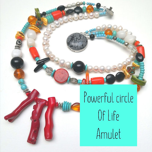 Powerful Circle of life AMULET~ Protection power wealth luck Amulet